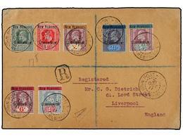 NUEVAS HEBRIDAS. Sc.1/3, 5/8. 1911. PORT VILA To ENGLAND. Very Nice Franking. Arrival On Reverse. - Unclassified