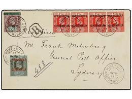 NUEVAS HEBRIDAS. Sg.7 (4), 11, 16. 1911. PORT-VILA To SYDNEY. Fine Franking On Registered Cover, Arrival On Reverse. - Unclassified