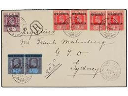 NUEVAS HEBRIDAS. Sg.6 (2), 11 (4), 15. 1911. PORT VILA To SYDNEY. Fine Franking. Arrival On Reverse. - Unclassified