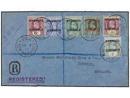 NUEVAS HEBRIDAS. Sg.10, 12/16. 1912. VILA To ENGLAND. Fine Franking. Arrival On Reverse. - Unclassified