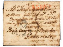 GUATEMALA. 1776 (14-Mayo). CREVILLENTE (Valencia, España) A GUATEMALA. Carta Completa Con Texto, Marcas M/M 25 De Madrid - Briefmarken