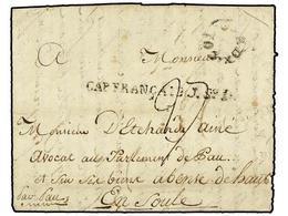 HAITI. 1787 (25 Mayo). SOUFRIERE DU LIMBE (Haiti) A FRANCIA. Carta Completa Con Texto 'Soufriere Du Timbre, Partie Du No - Briefmarken