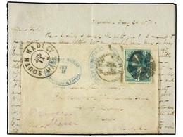 IRAK. 1870 (May 24th). Entire Letter Written From MARDIN On The Iraq / Turkish Border, Via AMERICAN MISSION/CONSTANTINOP - Briefmarken