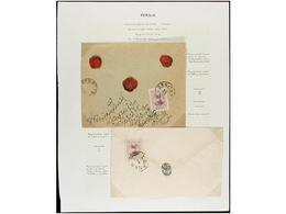 IRAN. 1902-06. Twenty Five Covers, Diverse Frankings (see Web). - Briefmarken