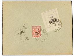 IRAN. Sc.422a, 354. 1906. TEHERAN To TABRIZ. 1 Ch. Violet Provisional Stamp With Perf. 10 (very Rare On Cover) And 5 Ch. - Unclassified