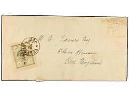 IRAN. Sc.424. 1906. TEHERAN To ENGLAND. Printed Matter Wraper Franked With 3 Ch. Green Provisional Stamp. Very Rare Fore - Unclassified
