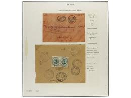 IRAN. 1911-21 Issue. Nine Covers With POSTAGE DUE Markings. Interesting Group. (See Web). - Unclassified