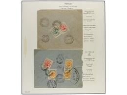 IRAN. 1911-21 Issue. Fourteen Covers, Diverse Frankings. (See Web). - Briefmarken
