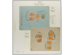 IRAN. 1911-21 Issue. Seventeen Covers, Diverse Frankings. (See Web). - Briefmarken