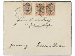 IRAN. Sc.502 (2), 505. 1912. TAURIS To GERMANY. 2 Ch. (2) And 9 Ch. OFFICIEL Ovpr. Rare Franking, Especially With The 9  - Unclassified