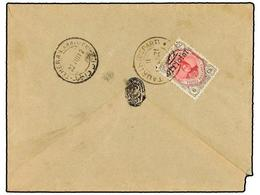IRAN. Sc.504. 1912. TAURIS To TEHERAN. 6 Ch. Grey And Rose, OFFICIEL Ovpr. RARE. - Unclassified