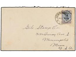 IRAN. Sc.507. 1913. OURMIAH To U.S.A. 13 Ch. Violet And Blue OFFICIEL Ovpr. Arrival On Reverse. RARE. - Unclassified