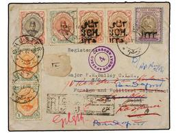 IRAN. Sc.481 (2), 482, 486, 549, 593 (2). 1918. CHUSTER To INDIA. 1 Ch. (2), 2 Ch., 6 Ch., 3 Ch. On 10 Ch. And 1 Kr. Reg - Unclassified