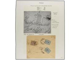 IRAN. 1918. TEHERAN. Eight Covers With CHARITY STAMPS Of 1 Ch. Violet. (See Web). - Unclassified