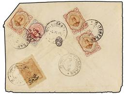 IRAN. Sc.488 (3), 609. 1919. TEHERAN To DAMGHAN. 6 Ch. On 1 Kr. And 10 Ch. (3) With FEMINE RELIEF STAMP Of 1 Ch. Envelop - Unclassified