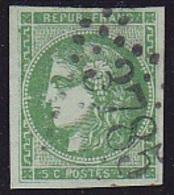 N°42 Ba Vert-Foncé - Signé ROUMET - Voir Verso & Descriptif - - 1870 Bordeaux Printing
