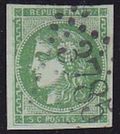 N°42 Ba Vert-Foncé - Signé ROUMET - Voir Verso & Descriptif - - 1870 Emission De Bordeaux