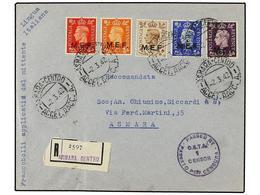 ERITREA. Sa.1/5I. 1942 (2-3). ASMARA Correo Interior. Serie Completa (tirada De Nairobi, Tipos I) Al Dorso Llegada (Sass - Briefmarken