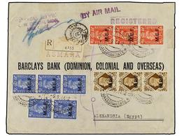 ERITREA. Sa.6 (3), 8 (5), 13 (3). 1944 (8-IX). ASMARA A EGIPTO. 1 D. Rojo (3), 2 1/2 D. Azul (5) Y 1 Sh. Castaño (3). Es - Briefmarken