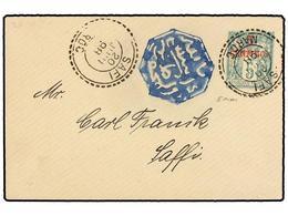 MARRUECOS. 1898. SAFFI. Entero Postal De 5 Cts. Verde Del Correo Francés Con Fechador SAFI/MAROC Y Marca Del Correo - Briefmarken