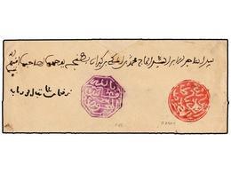 MARRUECOS. (1900 CA.). FEZ A RABAT. Envuelta Completa Con Marca Octogonal De FEZ En Violeta Y Circular De RABAT En Rojo. - Briefmarken