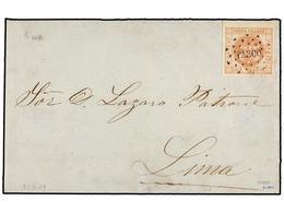 PERU. Sc.8. 1859. PASCO A LIMA. 1 Peseta, Mat. Círculo De Puntos PASCO. MAGNÍFICA. - Unclassified