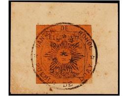 FILIPINAS. INSURRECTOS. PROVISIONAL DE BOHOL. Sello Sobre Papel Color Magenta Con Leyenda SELLO POSTAL PROVISIONAL/BOHOL - Briefmarken
