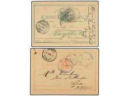 ANGOLA. 1896-98. (2) Dos Enteros Postales De 20 Reis Y 30 Reis Usados Desde NODUI? Y CAYO?. - Unclassified