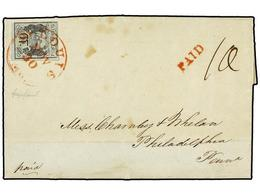 ESTADOS UNIDOS. 1845. Letter Sent From ST. LOUIS To PHILADELPHIA, Posted On November 30th 1845, Franked With One Postmas - Stamps