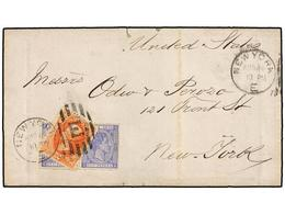 ESTADOS UNIDOS. 1879. GUANTANAMO (Cuba) To NEW YORK. Folded Letter (without Contents) Franked With Cuba 25 Cts. Ultramar - Stamps