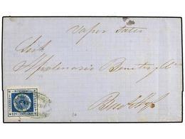 URUGUAY. Sc.16. 1862. PAYSANDU A BUENOS AYRES. 120 Cents. Azul, Manuscrito 'Vapor Salto'. Muy Bonita. - Unclassified