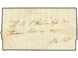VENEZUELA. 1823 (13 Febrero). MARACAY A PUERTO CABELLO. Carta Completa Dirigida Al General Jose Antonio Paez (posteriorm - Briefmarken