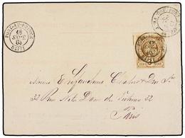HAITI. Sc.3. 1883. PORT AU PRINCE A PARÍS. Tarjeta Postal Oficial Con Sello De 3 Cts. Castaño, Mat. PORT AU PRINCE, Al D - Sin Clasificación