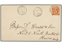HAITI. Sc.6. 1884. PORT AU PRINCE A BOSTON (Usa). 20 Cts. Castaño Rojo (margen Superior Corto), Pos. 15, Mat. PORT AU PR - Stamps