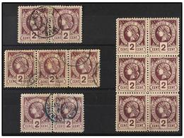 */° HAITI. Sc.8 (13). 1883. 2 Cts. Violeta , Pl. II 1er Tiraje. Conjunto Formado Por Un Bloque De Seis En Nuevo, Dos Par - Sin Clasificación