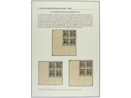 (*) HAITI. (1890 CA.). REIMPRESIONES De Los Valores De 1 Cto., 2 Cts., 3 Cts., 5 Cts., 7 Cts. Y 20 Cts. En Negro En Bloq - Sin Clasificación