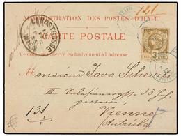 HAITI. Sc.9. 1885. CAP HAITIEN A VIENA (Austria). Tarjeta Postal Oficial Franqueada Con Sello De 3 Cts. Bistre, Mat. CAP - Sin Clasificación