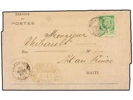 HAITI. Sc.10c. 1887. AVIS DE RECEPTION (Acuse De Recibo) De Una Carta Certificada Enviada De PORT AU PRINCE A HAMBURGO F - Sin Clasificación