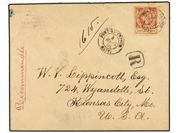 HAITI. Sc.13. 1895. PORT AU PRINCE A USA. 20 Cts. Castaño Claro, Pl. III. Carta Certificada. - Sin Clasificación