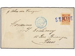 HAITI. Sc.13. 1893. PORT AU PRINCE A PARÍS. 20 Cts. Castaño Claro, Pl. III. Carta Depositada Directamente Al Barco Y Mat - Sin Clasificación