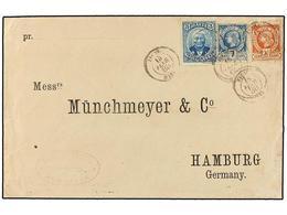 HAITI. Sc.11, 13, 23. 1888. JACMEL A HAMBURGO (Alemania). 7 Cents. Azul,  20 Cts. Castaño Y 3 Cts. Azul De La Emisión De - Sin Clasificación