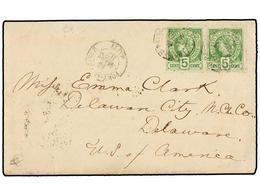 HAITI. Sc.20 (2). 1887. PORT AU PRINCE A DELAWARE (Usa). 5 Cents. Verde (2). Sobre Con El Contenido Escrito A Bordo De ' - Sin Clasificación