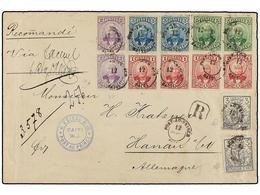 HAITI. Sc.21 (4), 22 (2), 23 (2), 24 (2), 28 (2). 1893. PORT AU PRINCE A ALEMANIA. Carta Certificada Circulada Con 4 Sel - Stamps