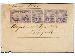 HAITI. Sc.22 (5). 1888. PORT AU PRINCE A NEW YORK. CARTA RECUPERADA DEL NAUFRAGIO DEL 'S.S. ATLAS' Franqueada Con Una Ti - Sin Clasificación