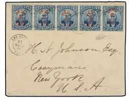 HAITI. Sc.25 (5). 1891. LES CAYES A USA. 2 Cts. S. 3 Cts. Azul, Tira De Cinco, Mat. LES CAYES/HAITI. PRECIOSA. - Sin Clasificación