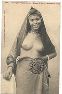 BELLE FEMME ARABE SEINS NUS 1916  Au Dos : Tampon Des Tirailleurs Senegalais CPA 2 SCANS - Senegal