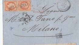 N° 23 En P ( 80 Cts / 2 Dents Rognées ) / L. (.) GC 5095 De SALONIQUE / 15.6.64-> MILANO / Italie + Griffe Rge 3L. PIROS - Marcofilie (Brieven)