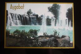 Turkmenistan. Ashgabat / Ashkhabad. New Fountain. Modern Postcard 2000s - Turkmenistan