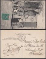"""Colonies Françaises - CP Guinée Nº1009- Afrique Occid. - Haute-Guinée """" Jeunes Filles Au Puits Malinkés """" (5G) DC1182 - French Guinea (1892-1944)"""