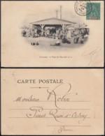 """Colonies Françaises - CP Guinée """" CONAKRY - Vue Du Marché Nº2 """"  (5G) DC1187 - French Guinea (1892-1944)"""
